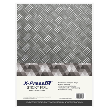 Picture of X-Press It Sticky Foil Tread Plate A3