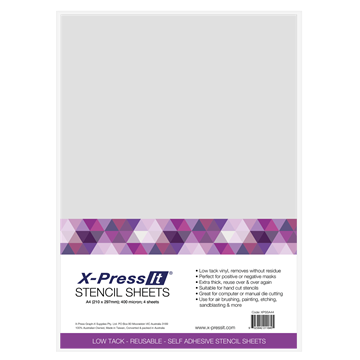 Picture of X-Press It Stencil Sheet A4 (4 Sheet Pack)