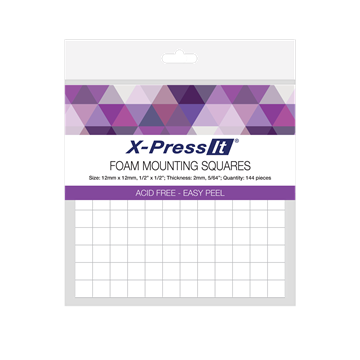 Picture of X-Press It Foam Mounting Squares 12x12mm 144pcs