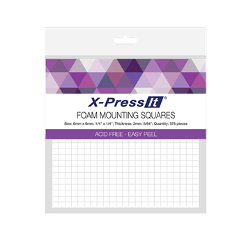 Picture of X-Press It Foam Mounting Squares 6x6mm 576pcs