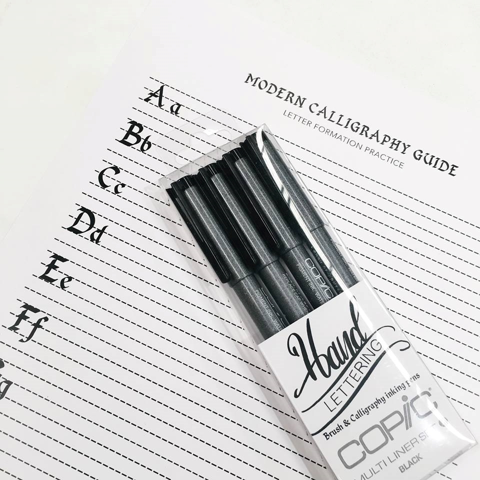 Modern Calligraphy Guide Worksheet