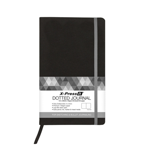 Picture of X-Press It Dotted Journal Black A5