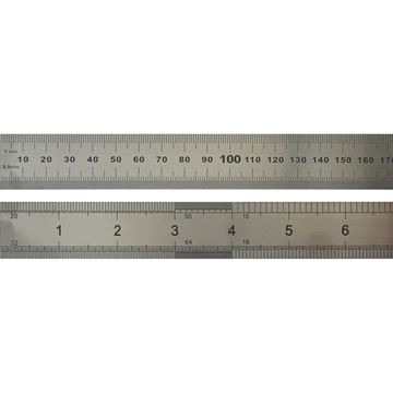 Picture of Steel Ruler 60cm METRIC/IMPERIAL