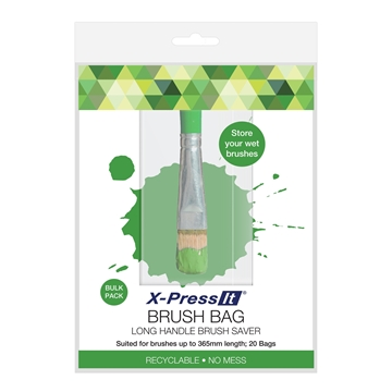 Picture of X-Press It Brush Bag Long Handle x20 Pack