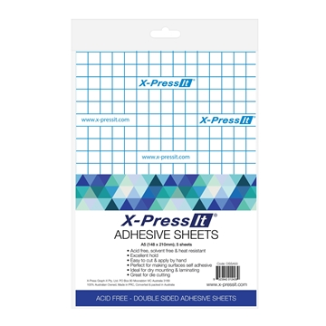 Picture of X-Press It Double Sided Tape Sheets A5 (5 Sheet Pack)