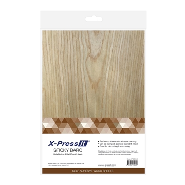 Picture of X-Press It Sticky Barc White Birch A4 3pk