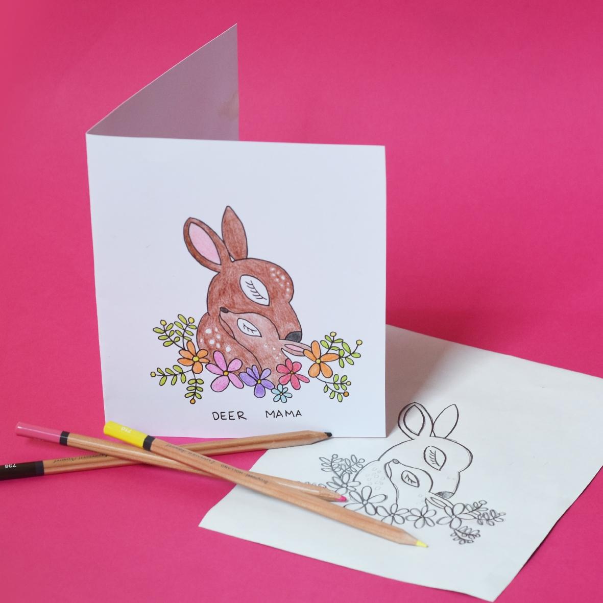 Deer Mama Card