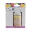 Picture of X-Press It Glitter Deco Tape Precious Metals 12mm x 3m x 5 rolls